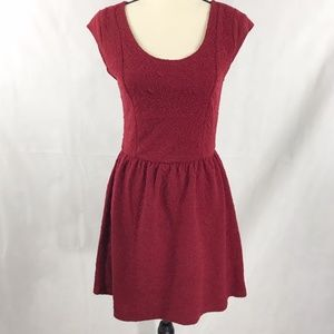 Eyelash Couture Deep Red Skater Dress Size M